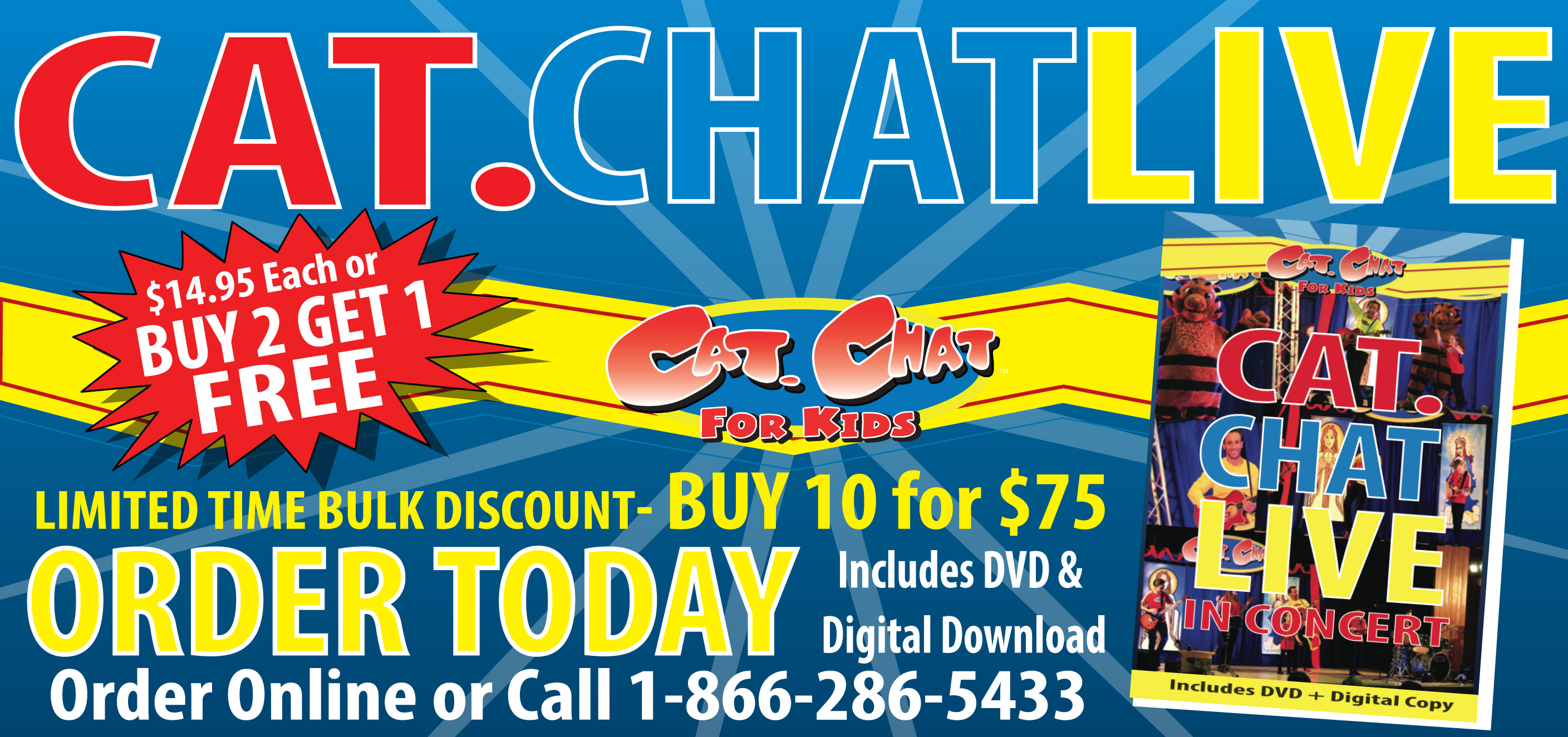 CAT.CHAT LIVE DVD
